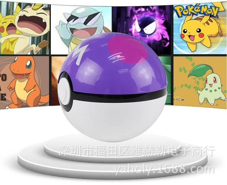 厂家直供精灵球充电宝套料 大师球 pokemon go原版移动电源二代