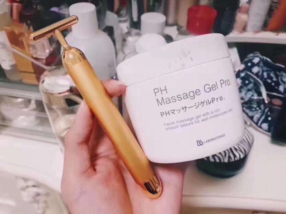 beauty bar 24k日本黄金美容棒按摩棒震动瘦脸神器