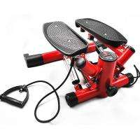round tube red cardio twister mini stepper with ropes