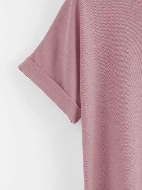 vestido liso tipo camiseta - shein espa09a
