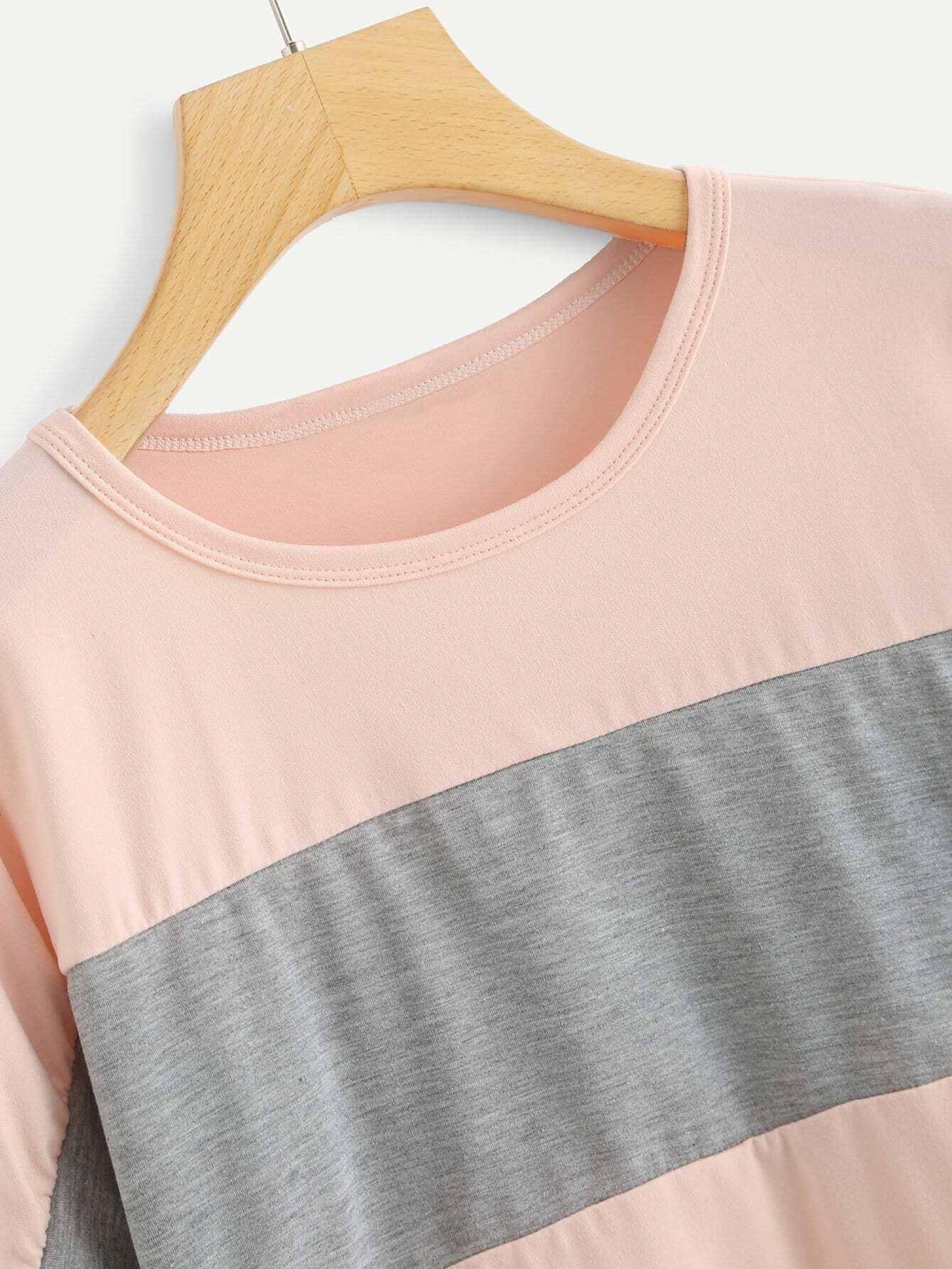 camiseta de rayas block - shein espa09a