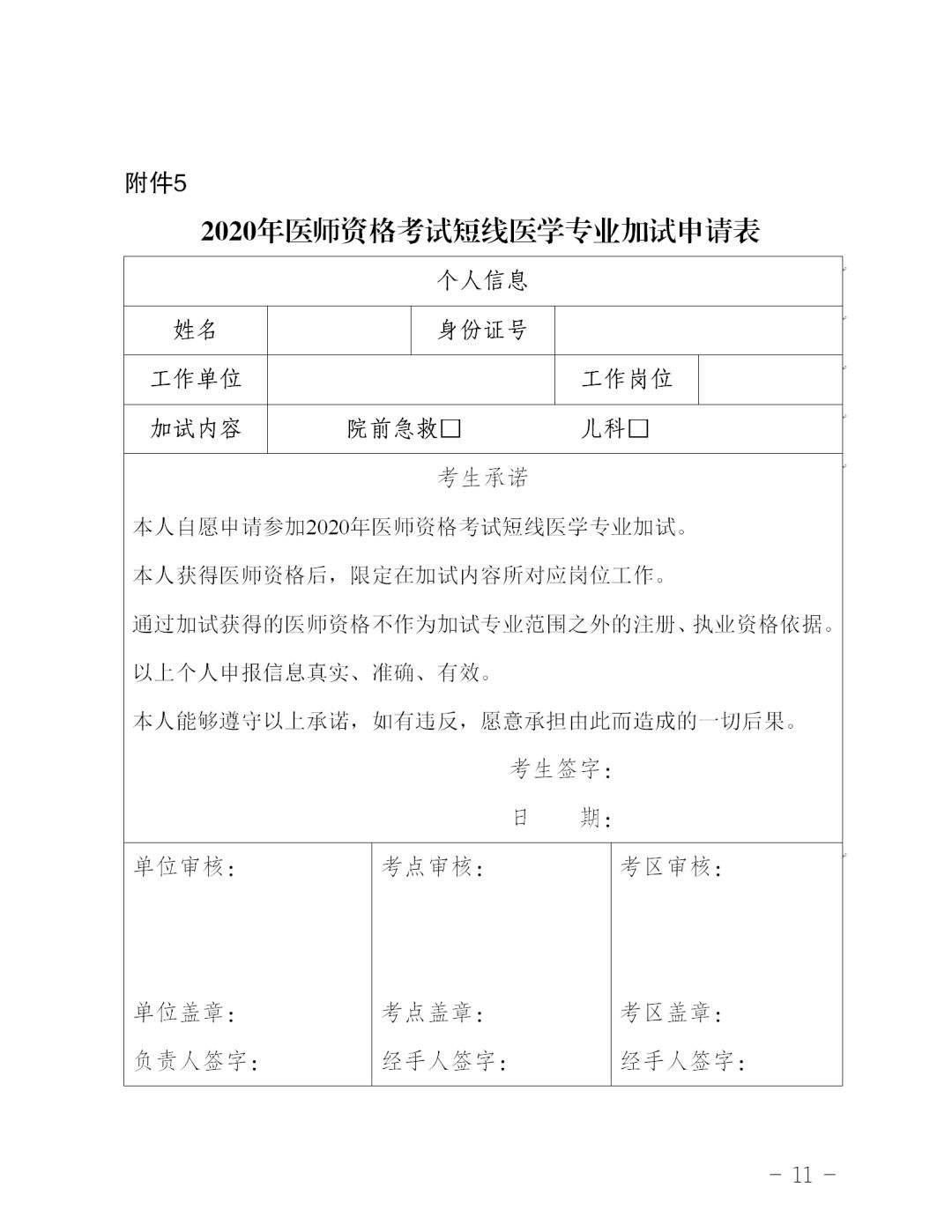 云南省医师资格考试考生承诺书   7.